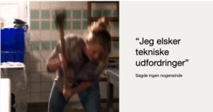 Et af vores faste slides når Ane laver webintro til Zoom, der tjener til at tage alvoren ud af teknikken.